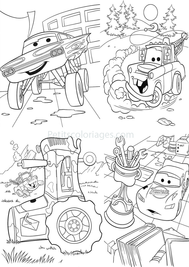 4 coloriages cars martin tracteur ramone sur - Coloriages de cars ...