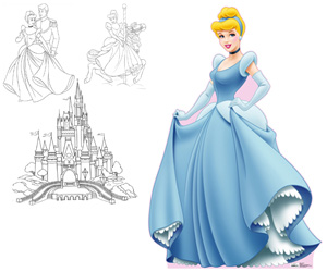 Coloriages cendrillon