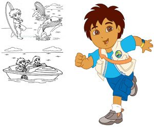Coloriages diego