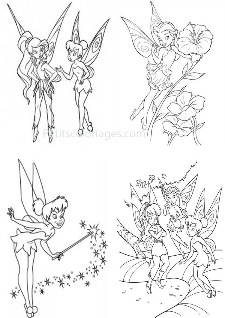 32 coloriages Fée clochette roselia, fleur, magie sur ...