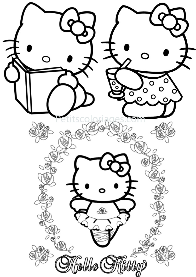 4 coloriages hello kitty danseuse livre sur - Hello kitty coloriage youtube ...