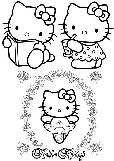 4 petits coloriages hello kitty : danseuse,livre