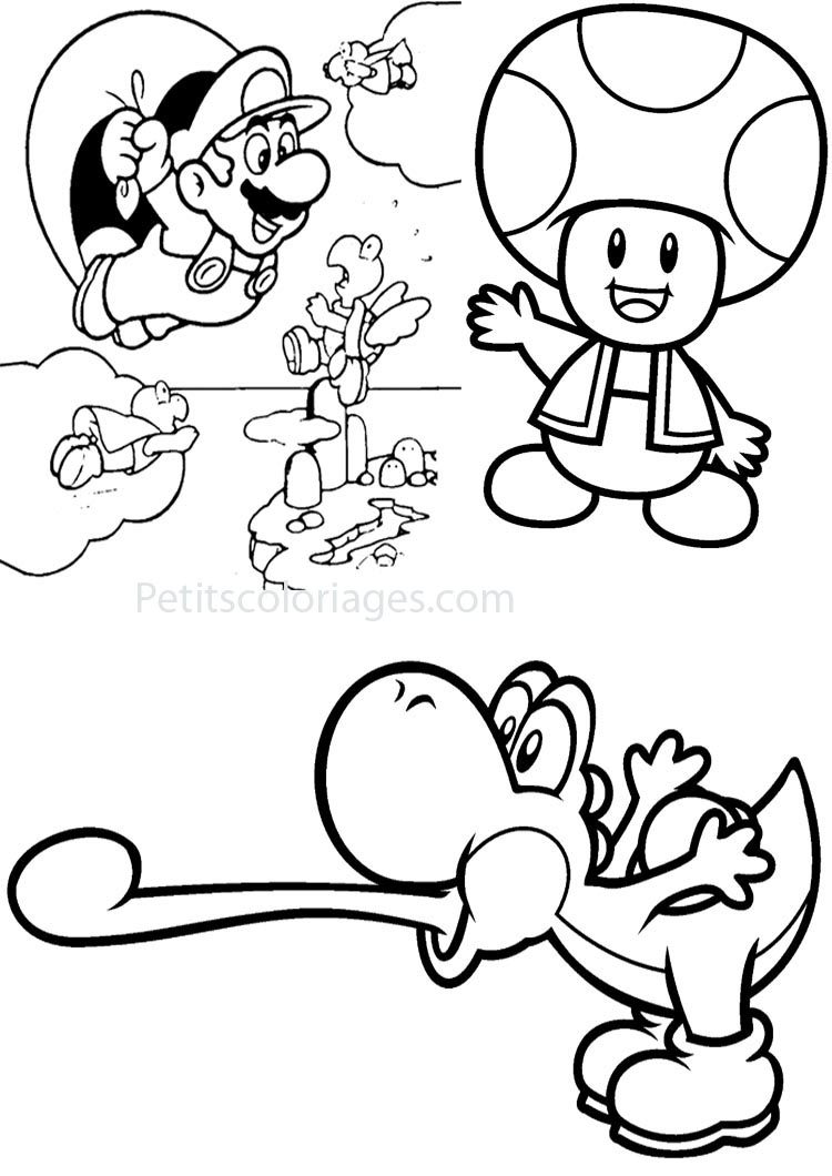 Coloriage Super Mario Galaxy 2 Coloriage Super Mario Galaxy