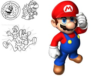 Coloriages mario/