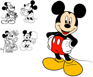 Coloriages mickey