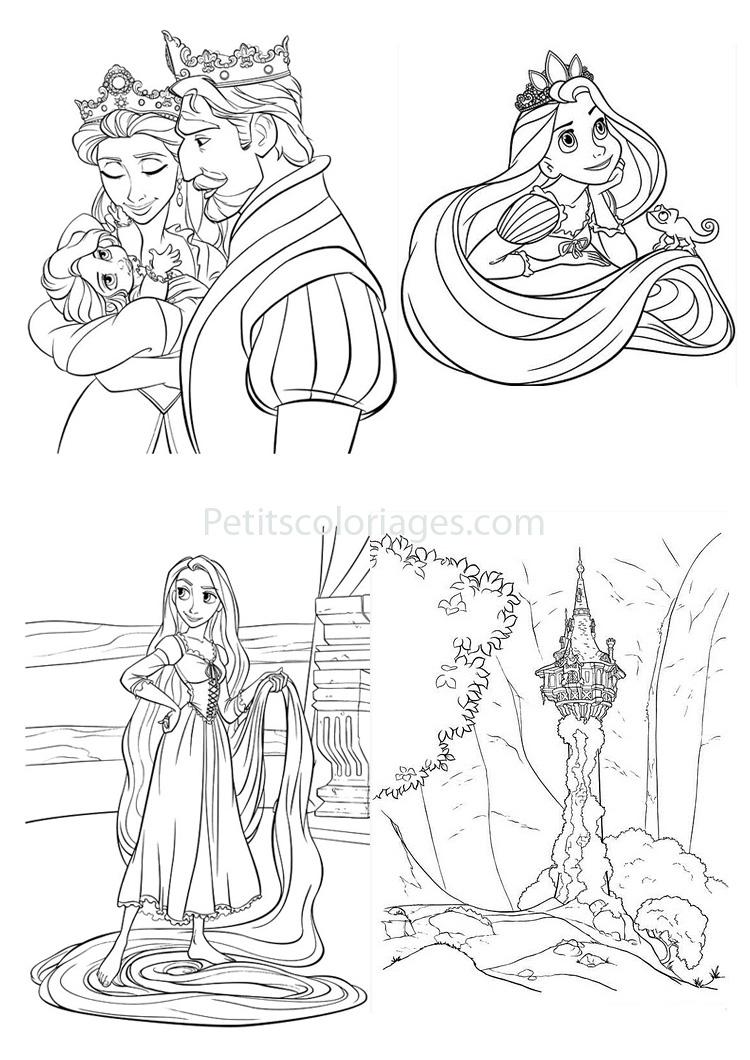 Coloriage de princesse et de roi - Bebe raiponce ...